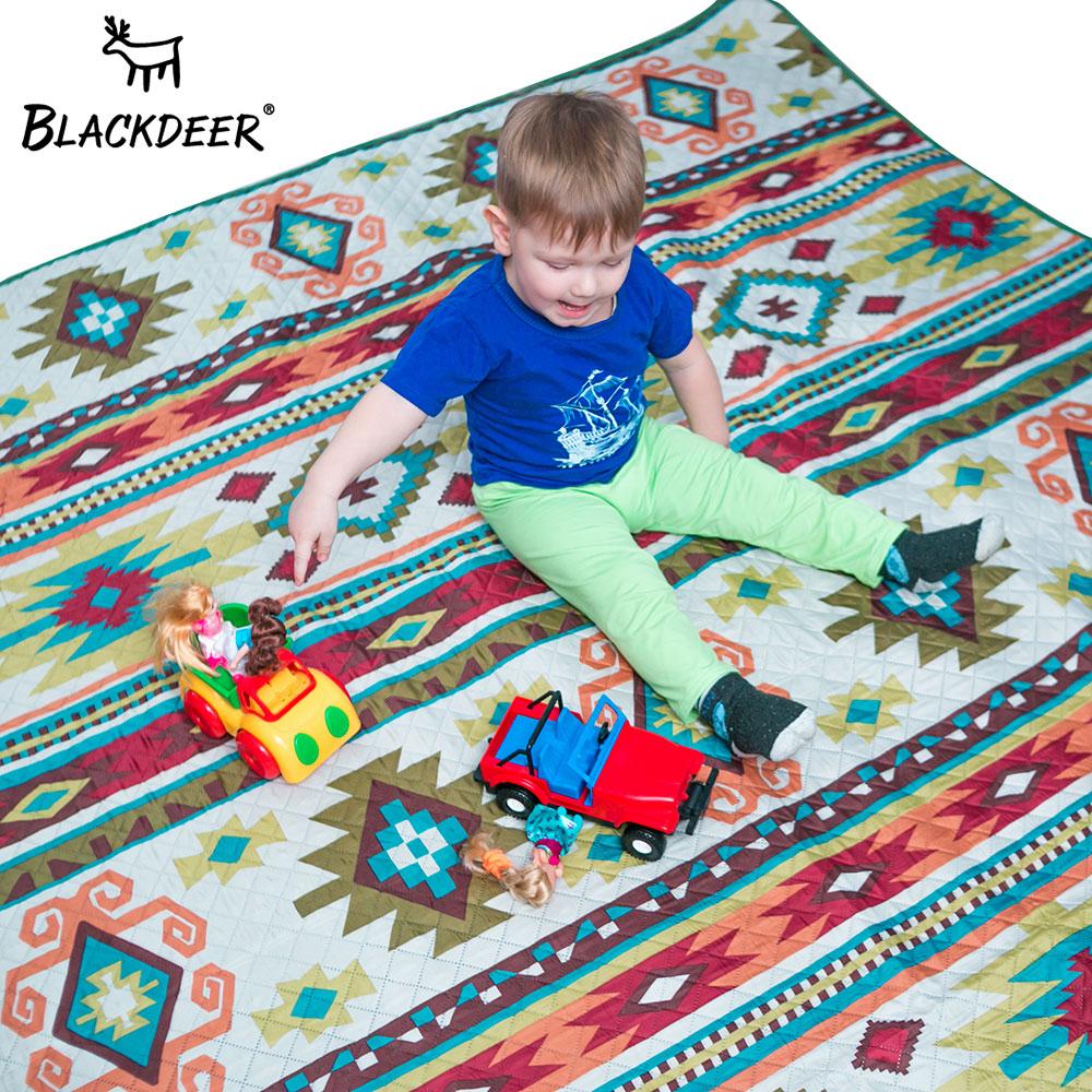 blackdeer esteira de acampamento para a familia estilo nacao impresso engrosse piquenique esteira de praia a