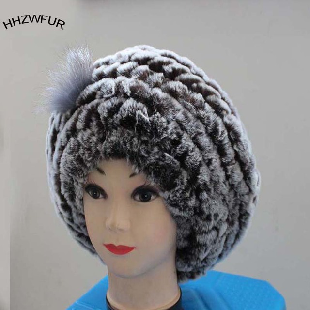 HHZWFUR free shopping real Fur hat women s beret hat winter hat thermal  casual cap real Rabbit fur 74a802eda1e