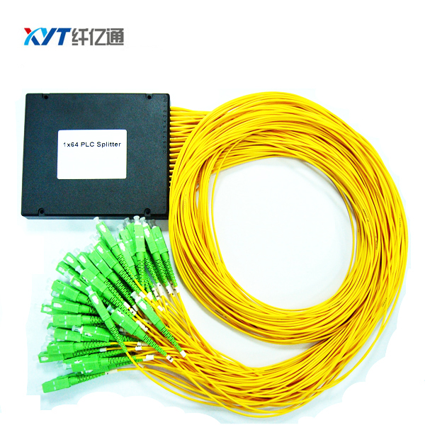 FTTH ABS Box 2.0mm fiber length 1m SC UPC APC Connector 1 *64 PLC Optical Splitter Free Shipping