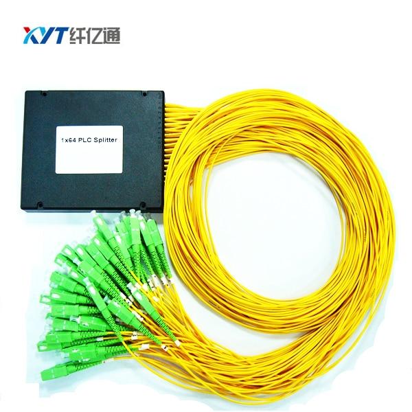Free Shipping FTTH ABS Box 2.0mm fiber length 1m SC APC Connector 1x64 PLC Optical Splitter
