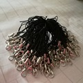100Pcs Hot Black Cell Phone Lanyard Cords Strap Lariat Mobile Lobster Clasp  for USB flash disk mp3 mp4 Camera Fast Shipping