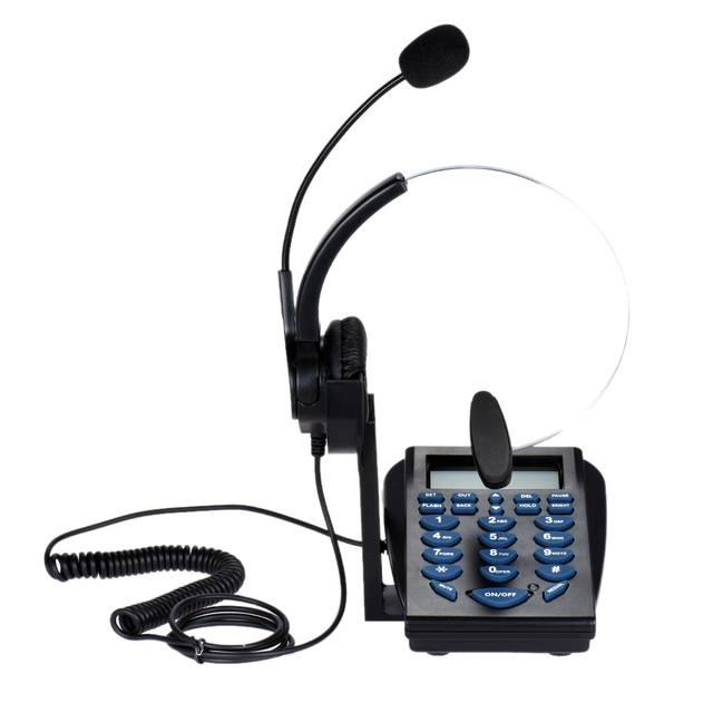 HT310 ヘッドセット電話ビジネスヘッドセット発信者 ID 電話顧客サービス電話ノイズキャンセルバックライトスタンド