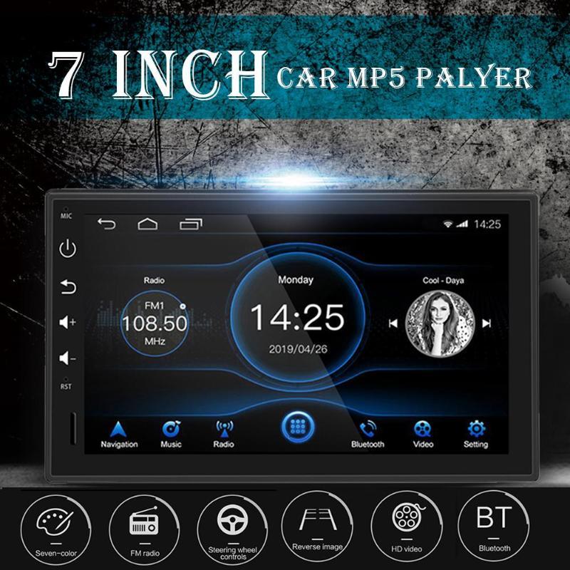1 DIN Bluetooth voiture stéréo GPS Navigation 7 pouces TFT écran tactile Android 8.1 2 GB + 16 GB unité principale WiFi USB AM FM RDS Radio - 3