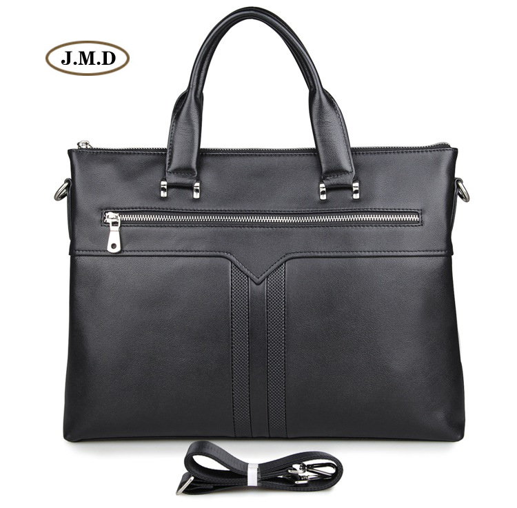 Hot Selling Genuine Cow Leather Male Business Briefcase Laptop Bag Shoulder Bag Crossbody Bag Handbag Messenger Bag 7330A in Briefcases from Luggage Bags