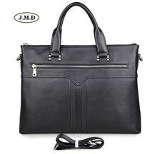 J.M.D Hot Selling Genuine Cow Leather Male Business Briefcase Laptop Bag Shoulder Bag Crossbody Bag Handbag Messenger Bag 7330A