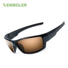 NEWBOLER Polarizado Ciclismo gafas de Sol Lentes de Color Amarillo Marrón Hombres Bicicleta de La Bici Gafas de Deporte Al Aire Libre Eyewear UV400