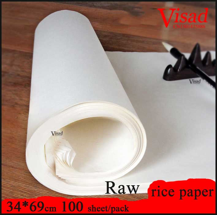 34*69cm Chinese rice Paper for Painting Calligraphy paper art paper for Painting darwing supplies Raw xuan paper sakura chinese painting paper calligraphy practice paper students special calligraphy and painting practice paper 100pcs lot