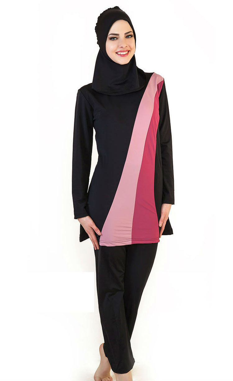 17232e8055325 Muslim Women Swimwear Islamic Swimsuit Full Face Hijab Swimming Beachwear  Swimsuit Sport Clothing Burkinis Beach Bathing Suit