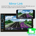 "Android Wifi GPS Nav Del Coche En El Tablero de USB/SD/AUX/MP3/CD DVD Player 6.5 ""doble DIN FM @ 318"