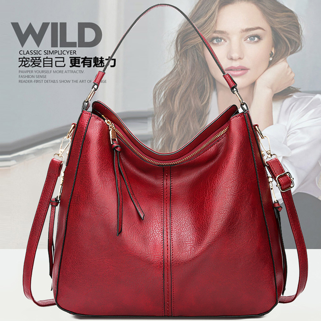 2018 vintage brown women leather handbags luxury designer shoulder bags high quality brand crossbody bags for women bolso mujer 5