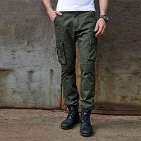 Cargo Pants Männer Military Style Taktische Hosen Armee Aktive Kampf Lange Hose Beiläufige Baumwolle Taschen Hosen Männlichen Cargohose