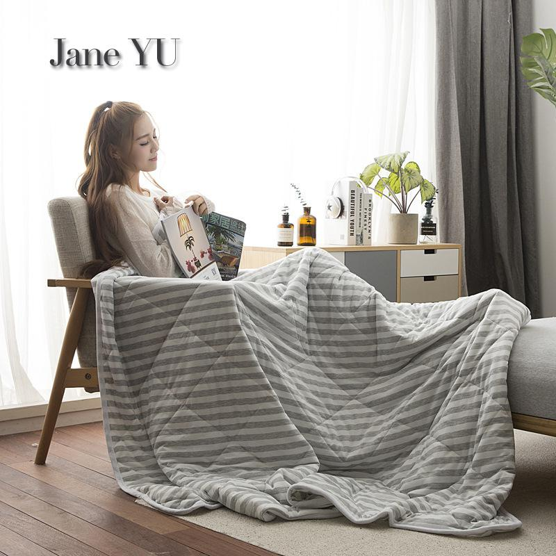 JaneYU 2019 High Quality Knitted Cotton Water-washed  Air Conditioning Cotton QuiltJaneYU 2019 High Quality Knitted Cotton Water-washed  Air Conditioning Cotton Quilt