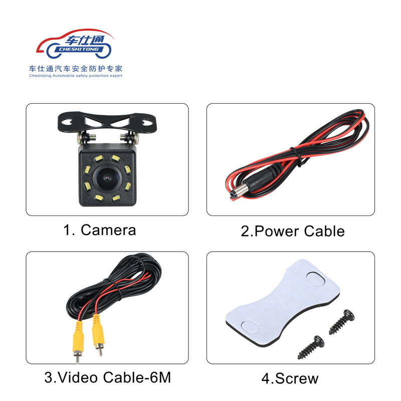 Image 3 - Car Backup Camera 4 8 12 LED light night vision reversing with parking line IP68  waterproof Rear View Camera-in Vehicle Camera from Automobiles & Motorcycles