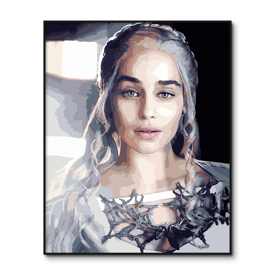 Painting By Number Adults Game Of Thrones DIY Oil Painting By Number Kits On Canvas TV Play Digital Painting Home Decor