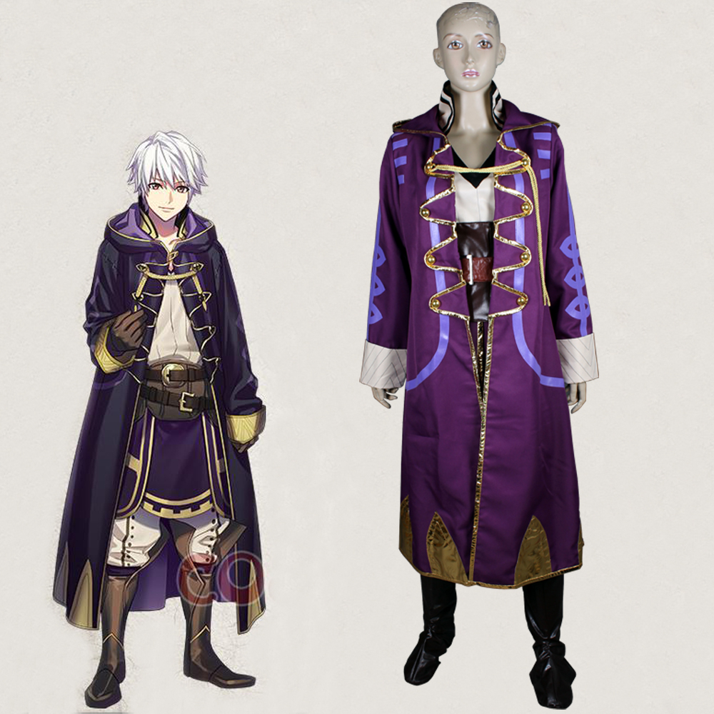 Fire Emblem Awakening Avatar Mai yunitto Robin Daraen Cosplay Costume Adult Halloween Carnival Costumes Men Full Set Custom made