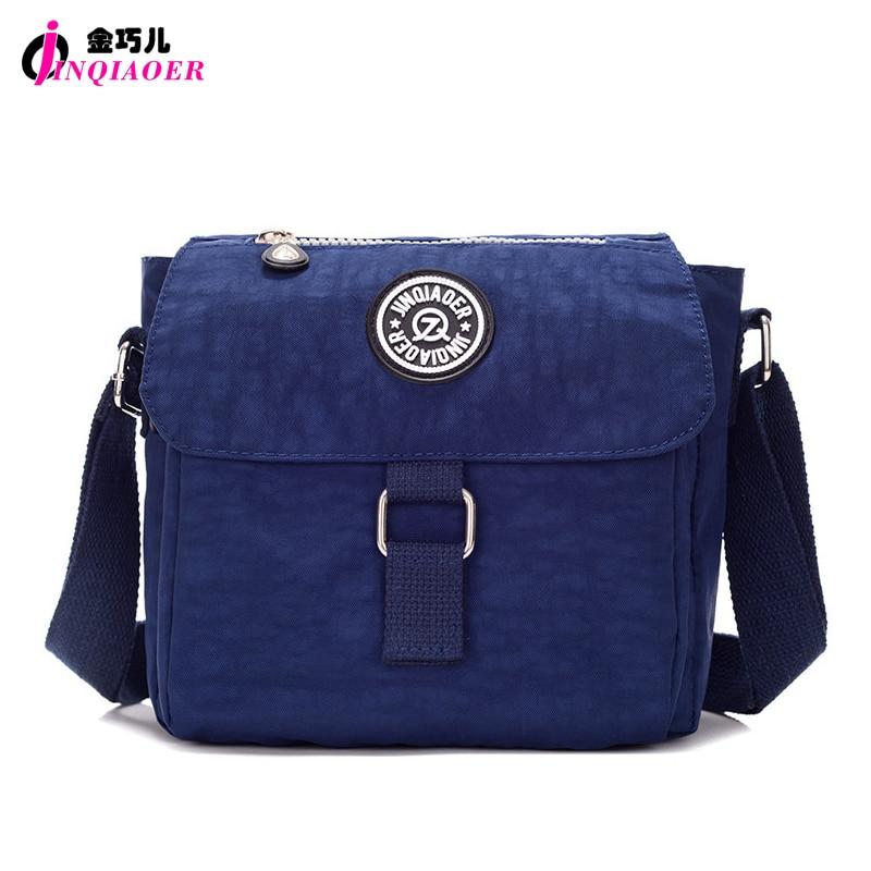 JINQIAOER Brand Small Women Bag Fashion Water Resistance Nylon Messenger Bag Ladies Flap Handbag Travel Crossbody Shoulder Bag