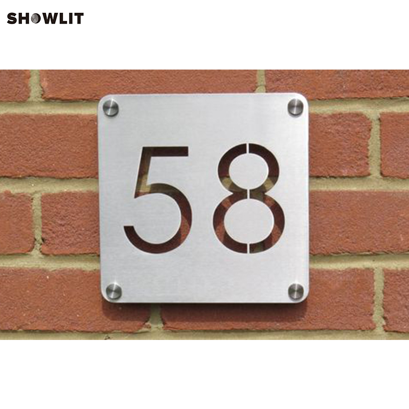 Stainless Steel Custom Made Laser Cut House Signs Numbers and Plaques