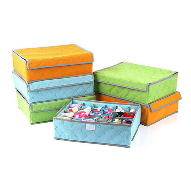 Storage Boxes For Ties Socks Shorts Bra Underwear Drawer Organizer