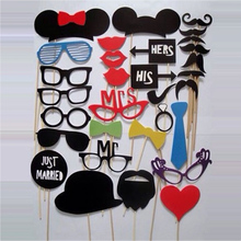 Creative Novelty 31Pcs/Set Fun DIY Masks Booth Props Mustache Stick Wedding Birthday Party Photo Fashion Accessory Party Decor