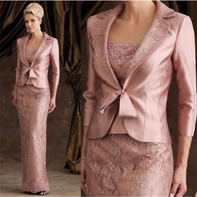 Mãe da noiva vestido com jaqueta de casamento até roupa Formal do casamento vestido de trabalho manual kleider mutter braut