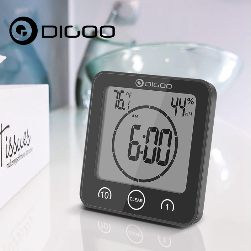 DIGOO DG BC10 Digital Bathroom Wall Clock Waterproof Suction Cups Countdown Timer Thermometer for Smart Home Automation dg home стул james