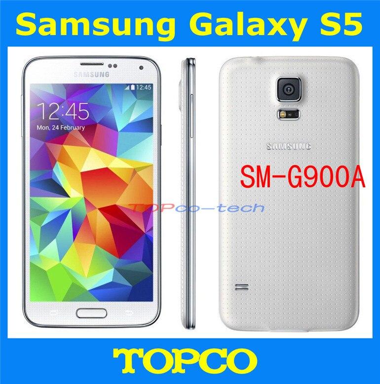 """Цена за Оригинальный samsung galaxy s5 новый открынный GSM 3 г и 4 г андроид мобильный телефон SM G900A Quad 5.1 """" 16MP WIFI GPS 16 ГБ прямая поставка"""