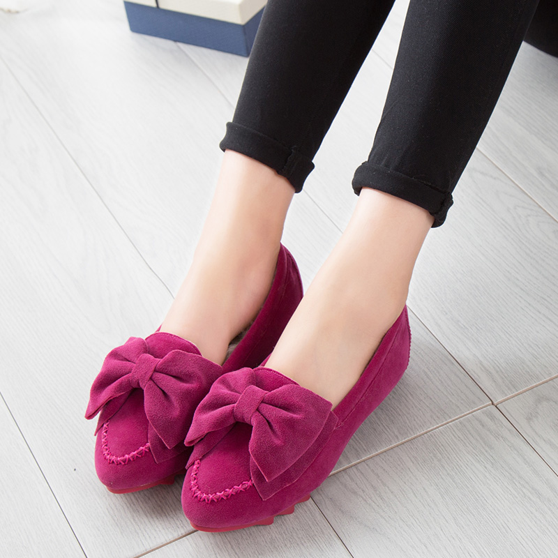 479f3f489b3 Glglgege Winter Fur Women Loafers Slip onLadies Plush Flats Warm Plush  Driving Boat Shoes Woman New Casual Female Solid Shoe-in Women s Flats from  Shoes on ...