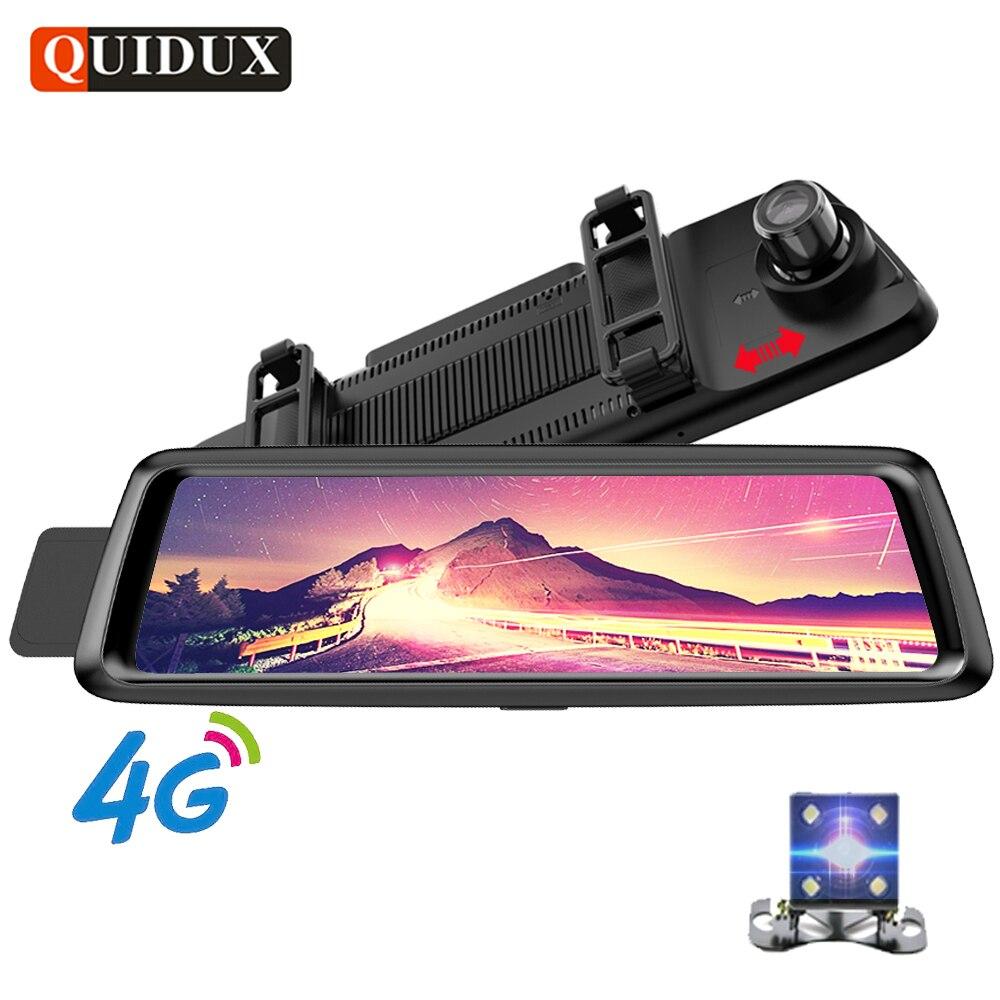 QUIDUX 10 IPS Plein Miroir De Voiture DVR 4g Android GPS Navigation ADAS FHD 1080 p Rétroviseur Camara voiture Vidéo Registraire Enregistreur