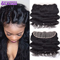 DHL Free 13x4 Full Lace Frontal Closure 7A Unprocessed Peruvian Body Wave Lace Frontal Free Middle Three Side Part Lace Closure