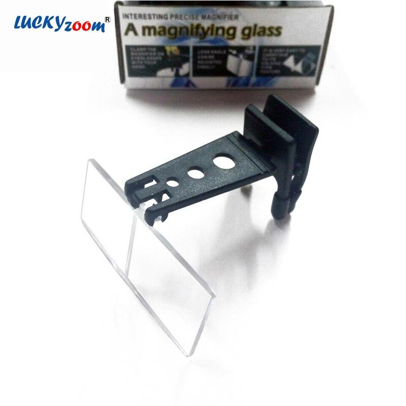 Luckyzoom 1.5X 2.5X 3.5X складной Стекло es лупа очки Портативный увеличительное Стекло с 3 объектива лупа Hand Free чтения лупа