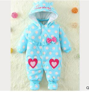 2016 azul bebê Romper escalada roupas de comércio exterior meninas amam o feriado fabricantes de roupas, atacado cotton childre