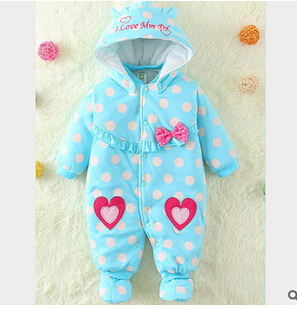 2016 blue baby Romper climbing clothes foreign trade girls love the holiday clothing manufacturers wholesale cotton