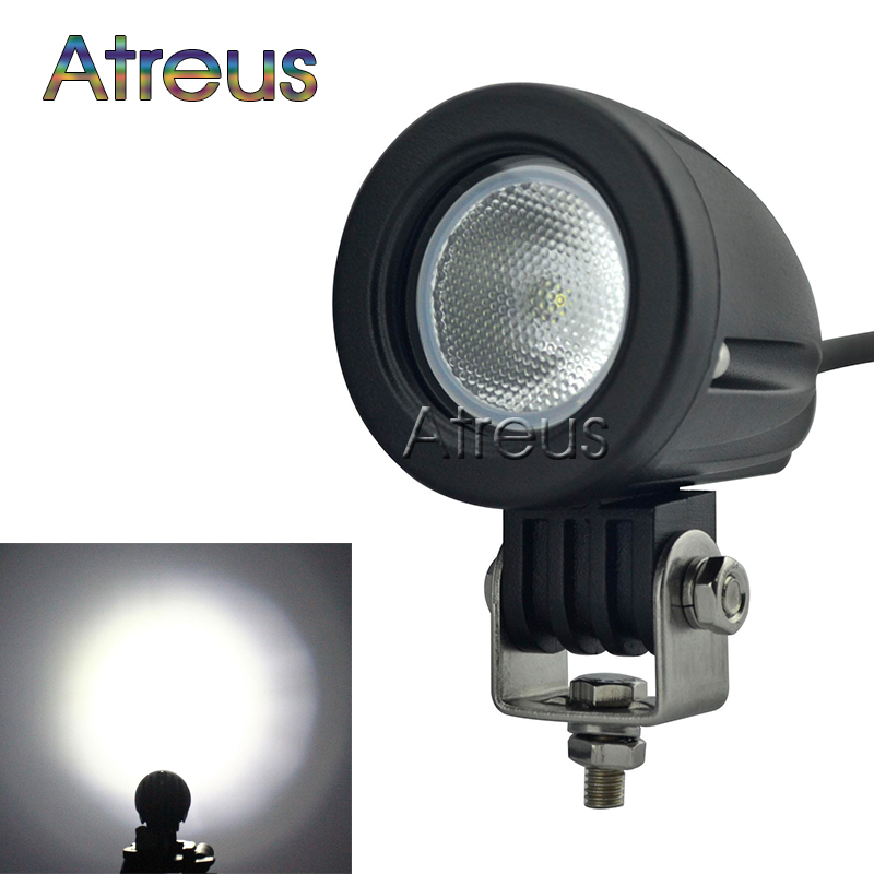 2Inch 10W Car LED Work Light 12V Round Spot DRL For ATV 4X4 Truck 4WD Offroad Trailer Bicycle Motorcycle Driving Fog Lamp Lights