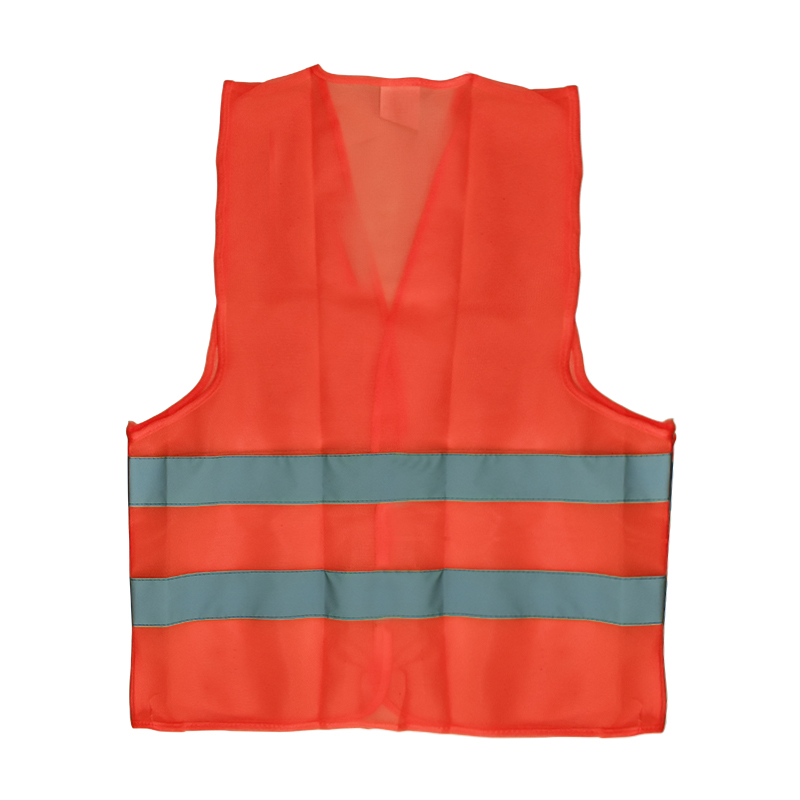 Hot  Visibility Security Safety Vest Jacket Reflective Strips Work Wear Uniforms Clothing Safety Reflective Clothing Polyester