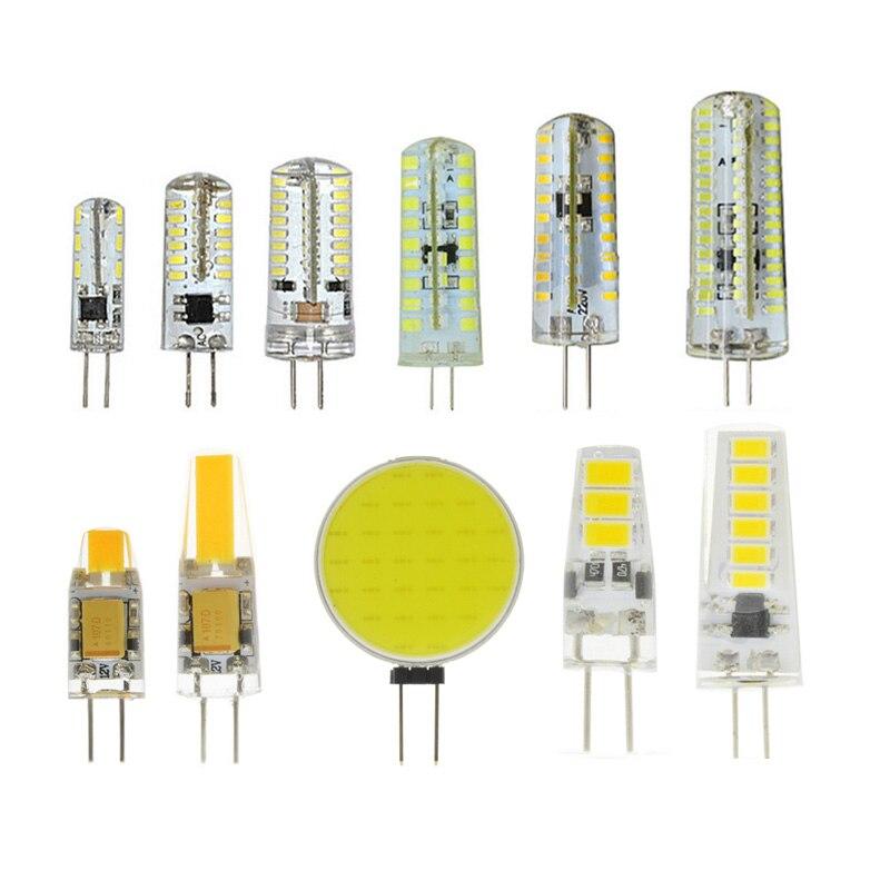 10Pcs 220V G4 Bombillas LED Lights For Home Led G4 12v AC&DC 3014 5730 2835 COB Lamparas Led Light Bulb Lighting Spotlight