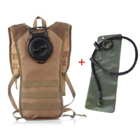 Outdoor 2.5L Water Sac With Molle Tactical Backpack Nylon Military Hiking Bicycle Backpacks Sports Cycling Climbing Camping Bag