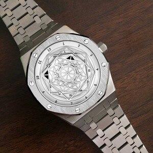 Image 2 - Reloj DIDUN mecánico automático para hombre, cronógrafo deportivo de negocios, luminoso, resistente al agua hasta 30m