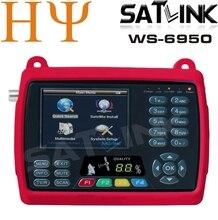Original satlink ws 6950 3.5 pulgadas de señal digital por satélite del metro del buscador ws6950 ws-6950 envío gratis