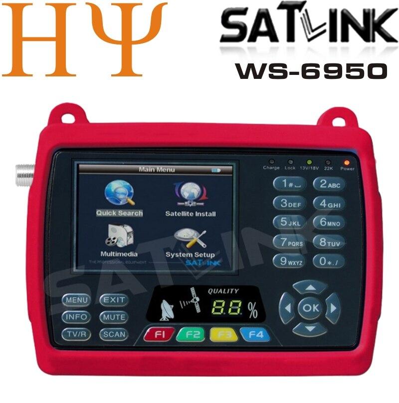 Original Satlink WS 6950 numérique Satellite détecteur de Signal compteur Satlink 6950 WS 6950 3.5 pouces meilleur Satelink ws 6906-in Récepteur de télévision par satellite from Electronique    1