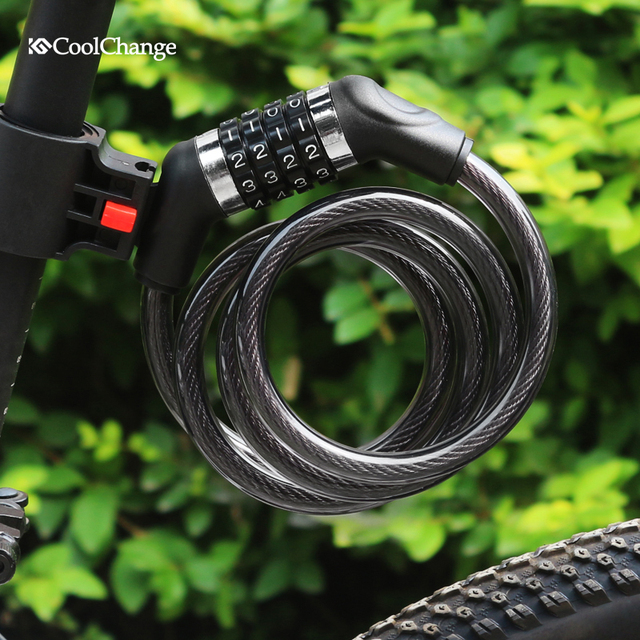 Coolchang Mountain Bicycle Lock Portable Combination Bike Locks Chain MTB Bikes Steel Password Lock
