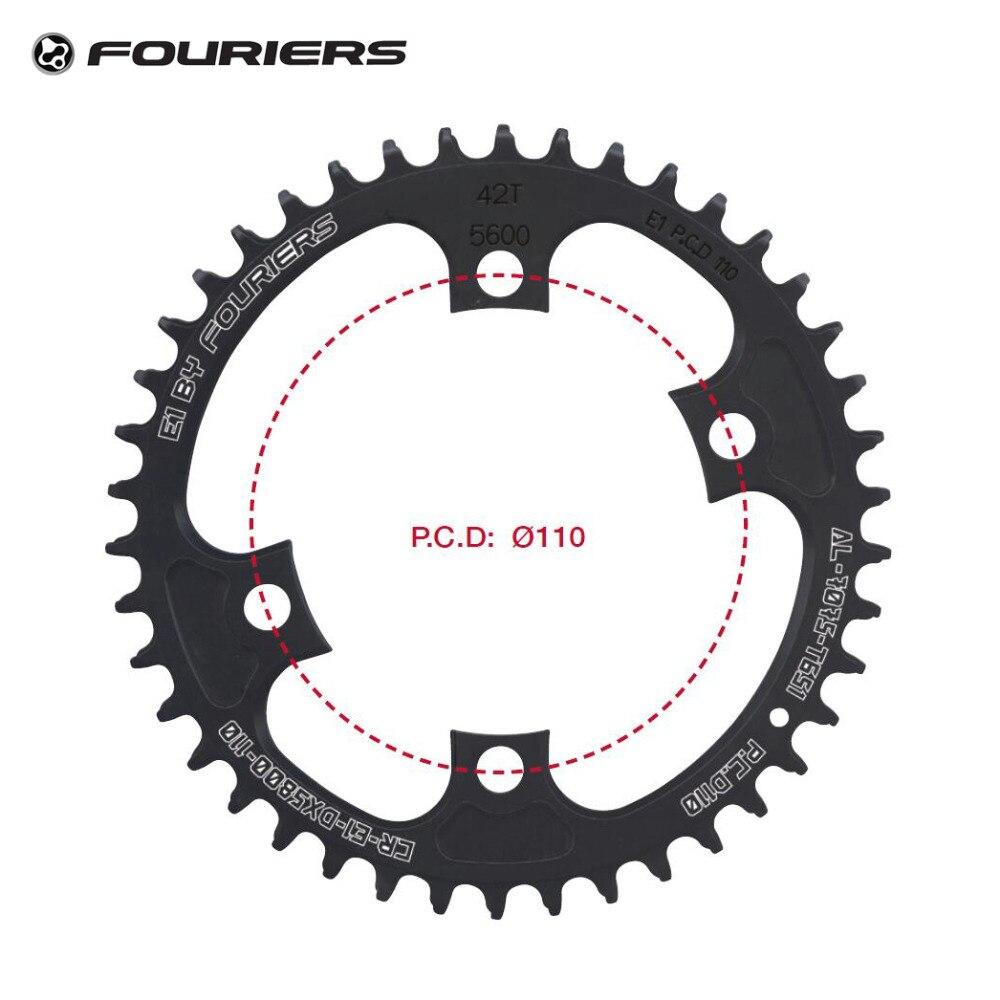 Fouriers CNC Plateau Unique BCD 110mm 42 t 46 t Étroite Large Dents Fit 105 5800 Ultegra 6800 11 vitesse 11 s Vélo De Route Pédalier