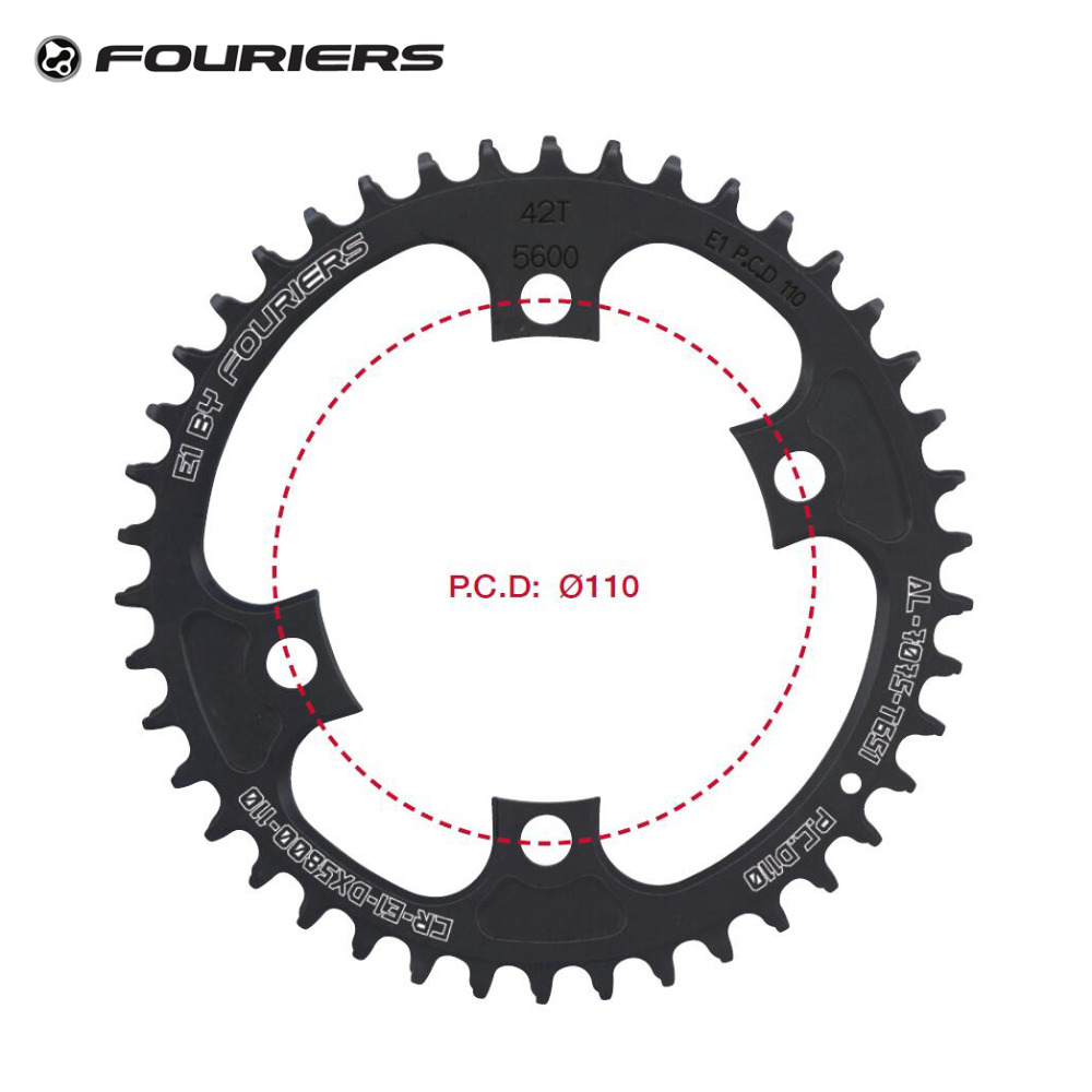 Fouriers CNC Single Chainring Road Bike Chainwheel BCD 110 mm 42t 46t Narrow Wide Teeth Fit 105 5800 Ultegra 6800 11 speed 11s 1pc fouriers cr dx006 130 road bike bicycle cnc single chain ring narrow wide teeth 38t 40t 42t 5mm p c d 130mm compatible