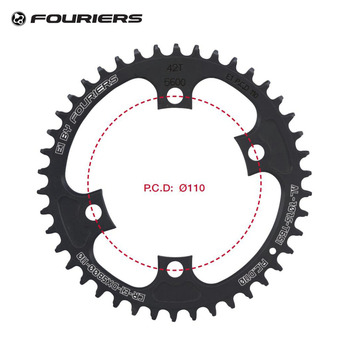 Fouriers cnc 싱글 체인 링 bcd 110 mm 42t 46t 좁은 와이드 치아 105 5800 ultegra 6800 11 speed 11 s road bike chainwheel