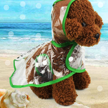 Waterproof raincoat clothes 4 Colors Fashion Transparent Dog Raincoat Dogs Coat Outdoor Rainwear XS S M L XL 2XL