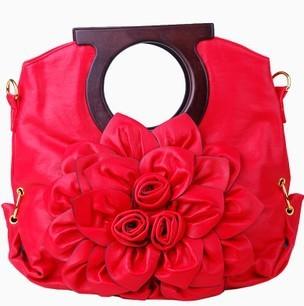 The new vintage handbags high-grade flowers bag handle single shoulder bag handbag girl diagonal messenger bag