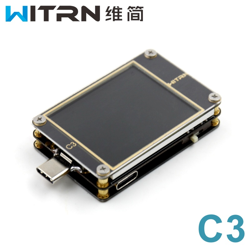 WITRN-C3 Current and Voltage Meter USB Tester QC4+ PD2 3.0 PPS Fast Charge Protocol Detection CC TableWITRN-C3 Current and Voltage Meter USB Tester QC4+ PD2 3.0 PPS Fast Charge Protocol Detection CC Table