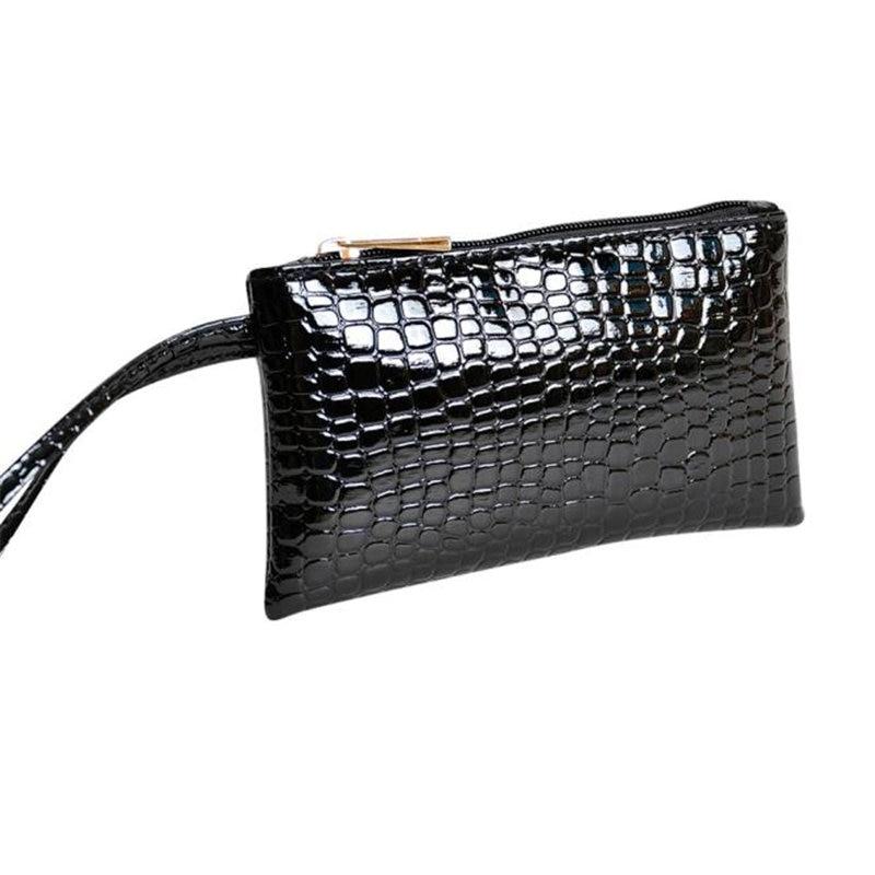 2018 Women Crocodile Leather Clutch Handbag Bag Coin Purse Wallet Zipper