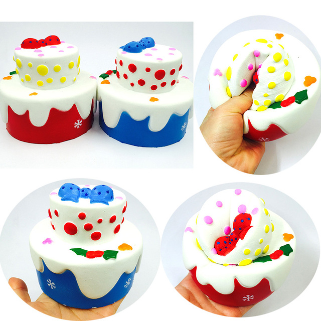 Squishy 1pcs Sell Kawaii Rare Squishy Jumbo Double Birthday Cake