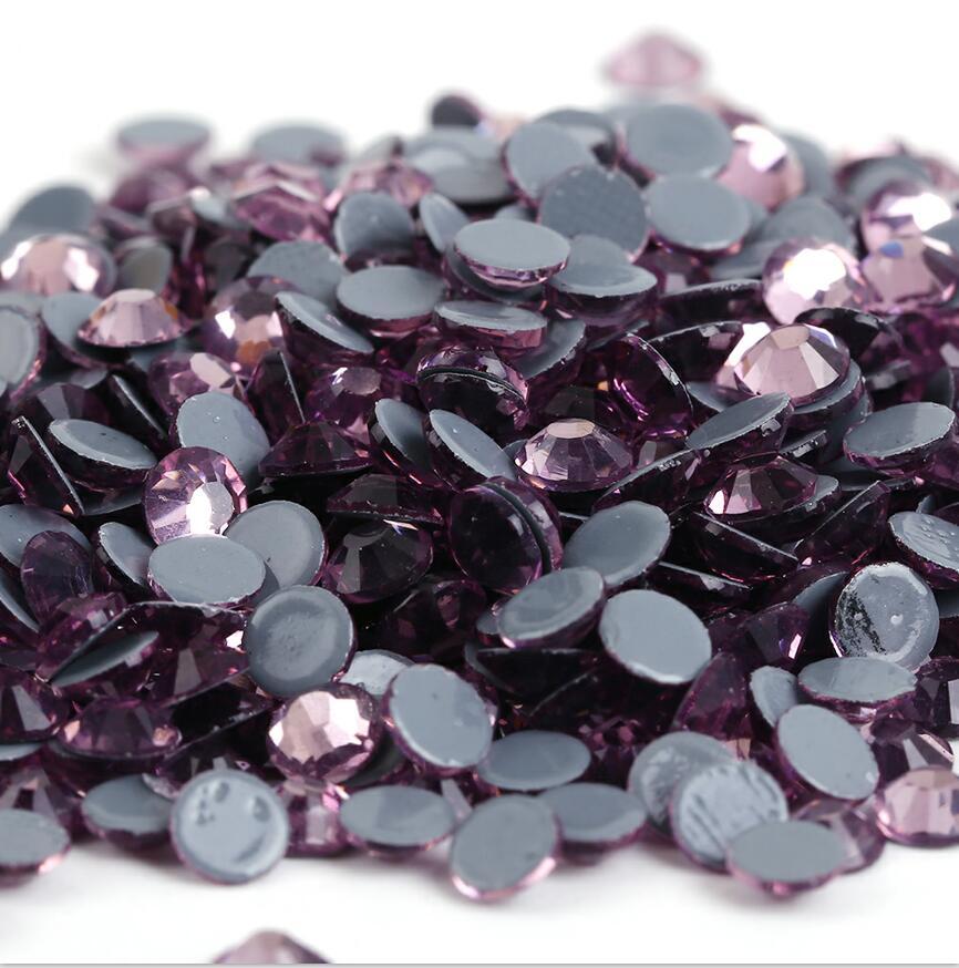 Все размеры 40 цветов кристалл AB исправление стразы, Стекло Стразы исправленное железо на Стразы для дизайна ногтей шитье и ткань Decoretion - Цвет: Lt.Amethyst
