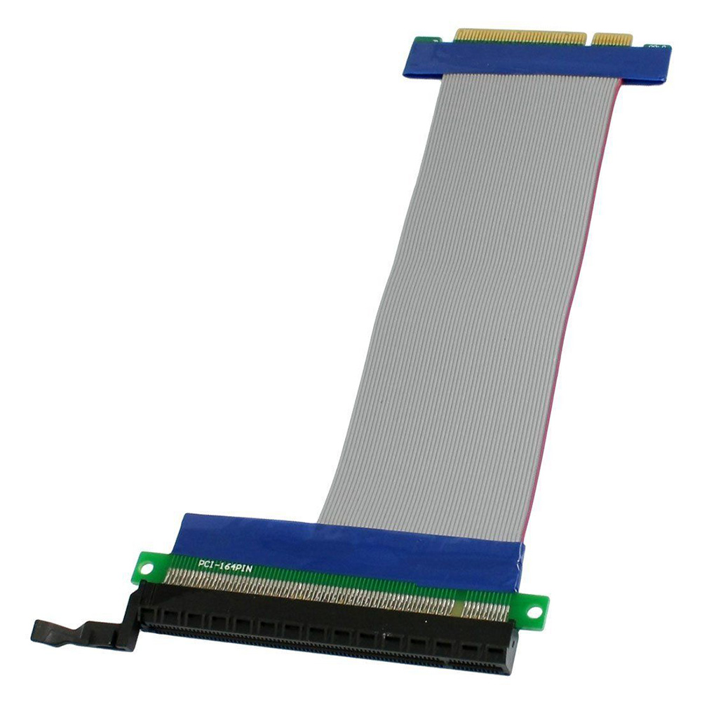 PCI-E 8x To 16x Powered PCI Express Extender Riser Adapter Card Flexible Cable